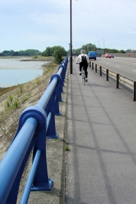 A2030 bridge into Portsmouth, Ruth's coastal walk