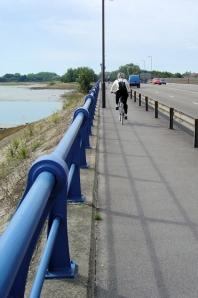 A2030 bridge into Portsmouth, Ruth's coastal walk