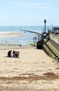 Harbour entrance, Littlehampton, Sussex. Ruth's coast walk.