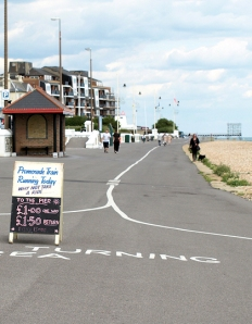 10 - Train turning sign, Bognor Regis promenade, Ruth's coastal walk.