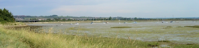 walking into Portsmouth, Ruth on her coastal walk.
