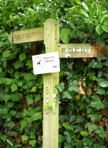 11 Secret footpath sign, on an estate, Bognor Regis, Ruth trying to walk the coast