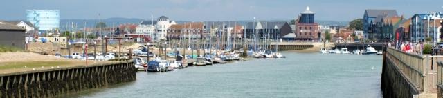 Littlehampton, Ruth's coastal walk, Sussex.