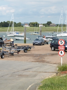 West Itchenor quay, Ruth's coastal walk, West Sussex.