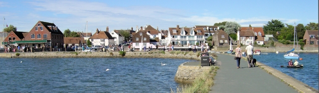 Emsworth - Town Mill Pond Promenade, Ruth walks the coast.