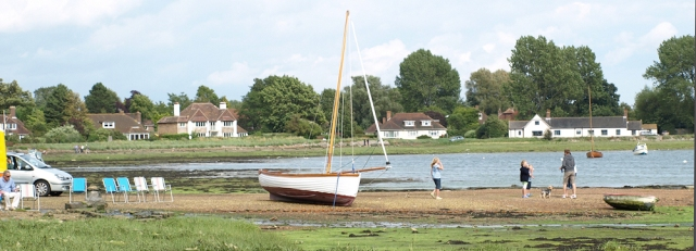 Bosham, incoming tide, Ruth's coastal walk, through West Sussex.