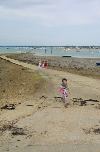 looking over to Hayling Island, Ruth walks around the coast, Portsmouth.
