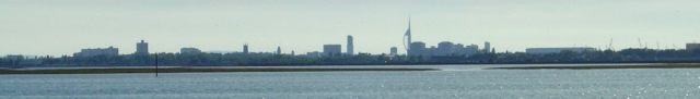 Portsmouth in distance, from Langstone Harbour, Ruths coast walk