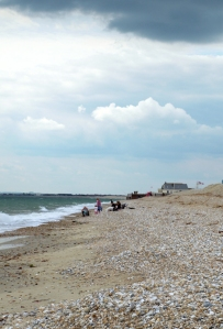 Towards Holiday Village, Selsey, Ruth's coast walk