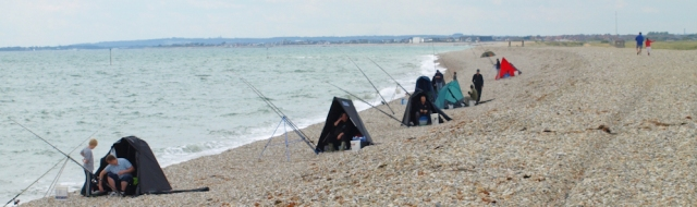 Selsey, fishermen, on Ruth's coastal walk, Sussex.