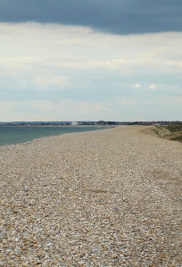 Walking towards East Wittering and Bracklesham, on Ruth's coastal walk, Sussex.