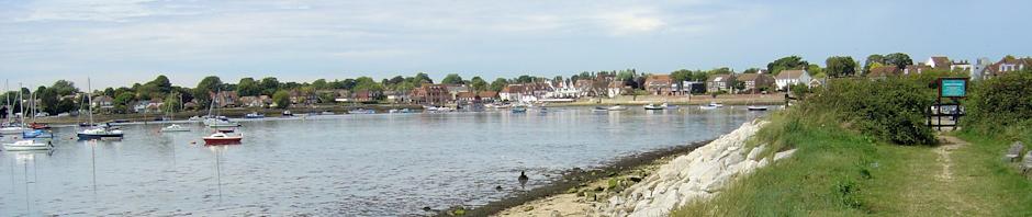 Towards Emsworth from Thorney Island, Ruth's coastal walk