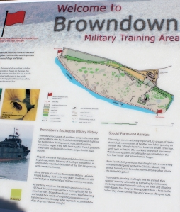 Browndown Military Training area, Ruth on her coastal walk, Hampshire