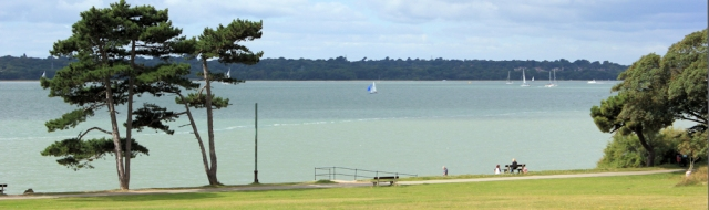 Royal Victoria Country Park - view over Southampton Water, Ruth's coast walk