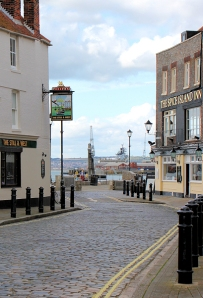 Pubs in Old Portsmouth, on Ruths coast walk.