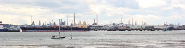 across River Hamble to refinery at Fawley, Ruth walks the coast through Hampshire