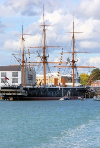 HMS Warrior, Portsmouth, from Gosport Ferry, Ruths coastal walk.