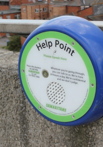 Itchen Bridge help point, on Ruth's coastal walk