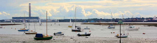 Boats on River Hamble - Ruth on her walk around the coast, Hampshire