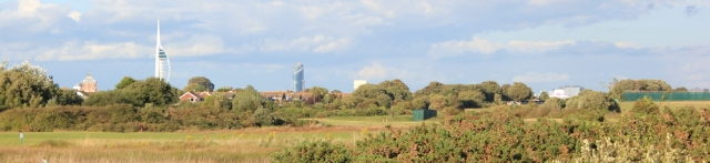 view back to Portsmouth, Ruth's coastal walk