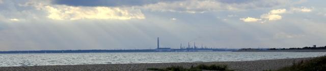 view towards Hythe, Ruth's coastal walk