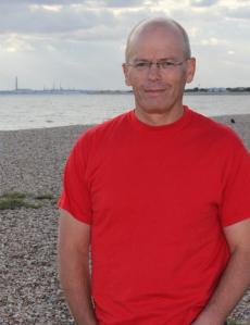 My husband John, Ruth's coastal walk - number one supporter
