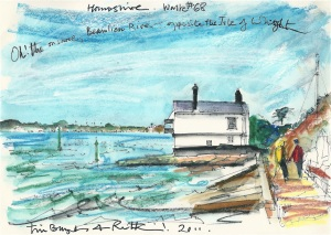 Hampshire walk - Lepe Beach - Ruth's artist in Residence.