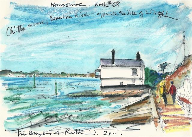 Hampshire walk - Lepe Beach - Ruth's artist in Residence.