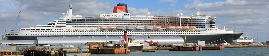 Southampton Docks - Queen Mary II - Ruth's coastal walk