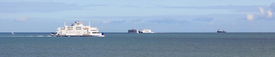 Isle of Wight Ferry, off Portsmouth. Ruth's coastal walk.