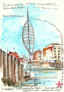 Spinnaker Tower, Portsmouth - artists interpretation.