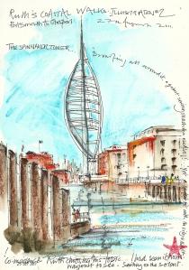 Spinnaker Tower, Portsmouth - artists interpretation.