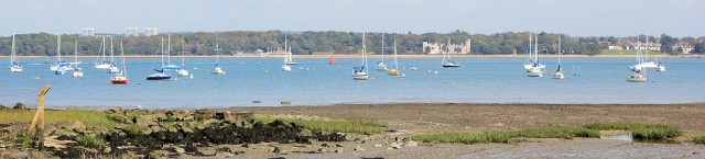 Southampton Water - View from Langdown, Ruth's walk around the coast.