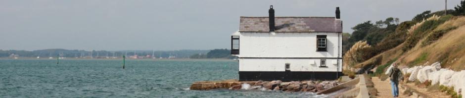 Sea walk, Lepe, Ruth walking round the coast in Hampshire.