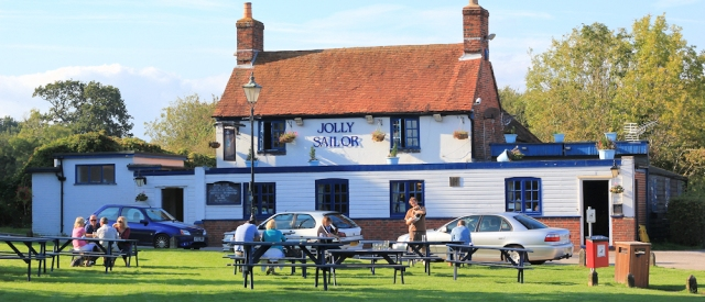 Jolly Sailor Pub, Ashlett, Fawley, Ruth's coastal walk.