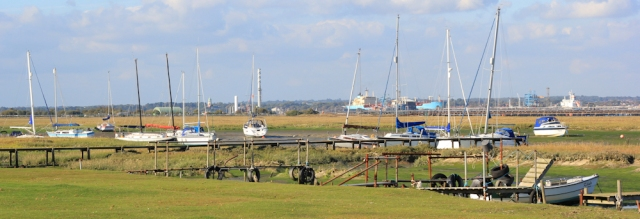 Ashlett marina, Fawley, Southampton Water, Ruth's coastal walk, Hampshire.