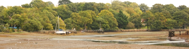 Beaulieu, with tide out, Ruths coast walk. New Forest.