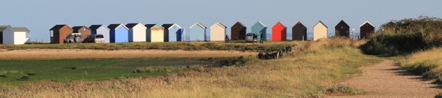 towards Calshot beach huts, from Fawley Power Station, Ruth's coast walk.