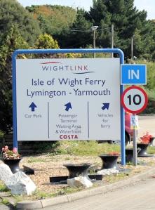 Isle of Wight Ferry Port - Lymington, Ruth walks by on her coastal walk.