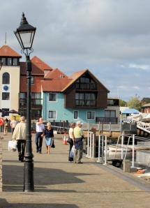 Lymington water front, Ruth on her coastal walk.