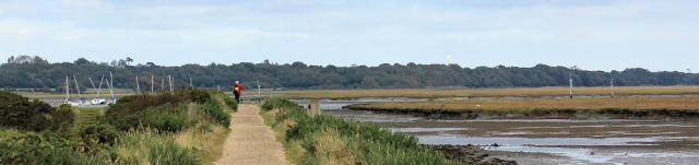 path through Keyhaven marshes, Ruth's coastal walk around the UK