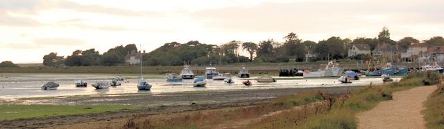 Footpath leading into Keyhaven, Ruths coastal walk
