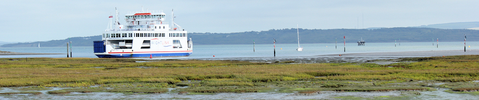 Header - Isle of Wight Ferry, from Lymington.