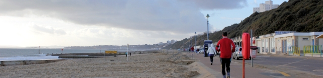 Bournemouth Promenade, Ruth's coastal walk, UK