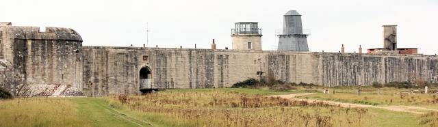 Hurst Castle, Hampshire, Ruth walks around the coast of England