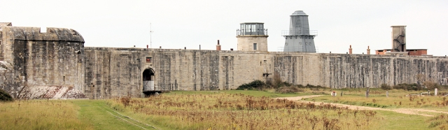 Hurst Castle, Hampshire, Ruth walks around the coast of England
