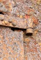 rusted metal, Hurst Castle, Ruth walks around the coastline