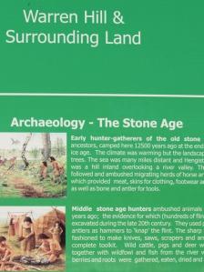 Warren Hill, stone age site, Ruths coastal walk