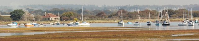 looking back to Keyhaven, Hampshire. Ruth's coast walk.
