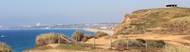 view from Hengistbury Head, Ruth's coastal walk.